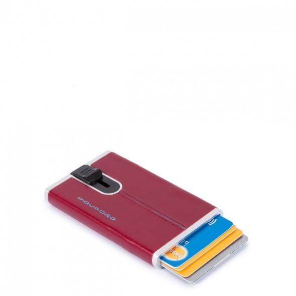 Piquadro δερμάτινη θήκη για κάρτες 6.20x10.5x2cm RFID σειρά Blue Square Red