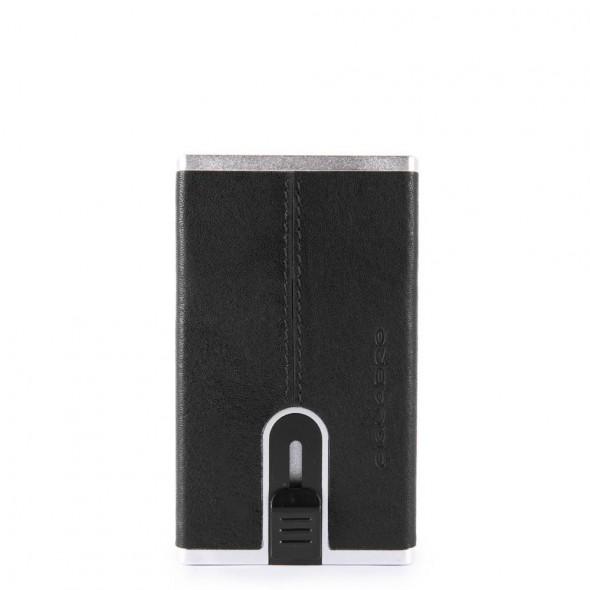 Piquadro θήκη για κάρτες 6x10.5x1cm Black
