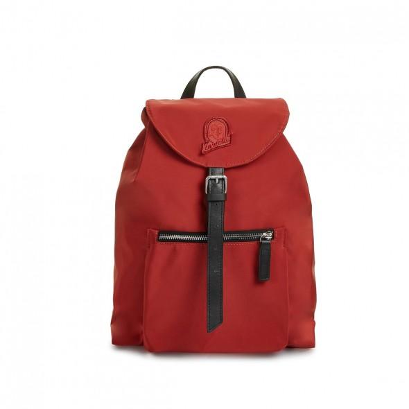 Invicta τσάντα πλάτης 26x34x10cm σειρά mini Alpino Plain Recycled Dark Red